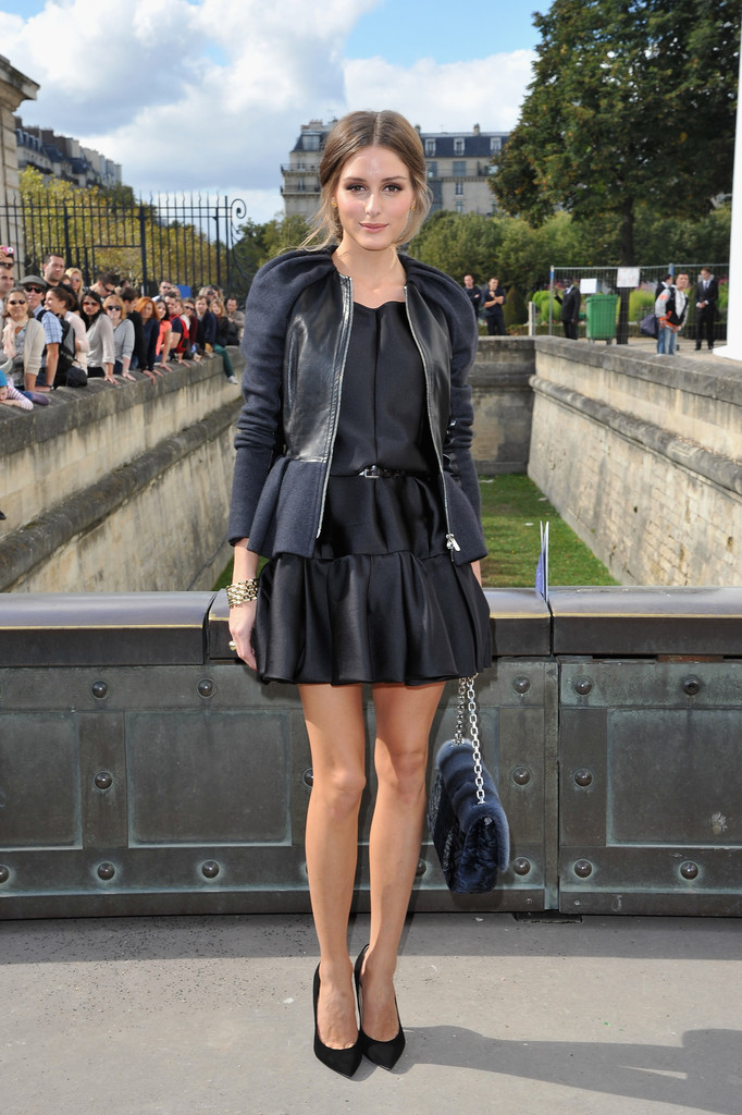 Olivia Palermo arrives at the Christian Dior Spring / Summer 2013 show as part of Paris Fashion Week on September 28, 2012 in Paris, France.