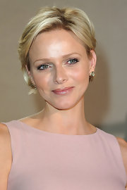 Charlene looked every part the princess with her short side-swept 'do at the Dior show in Paris.