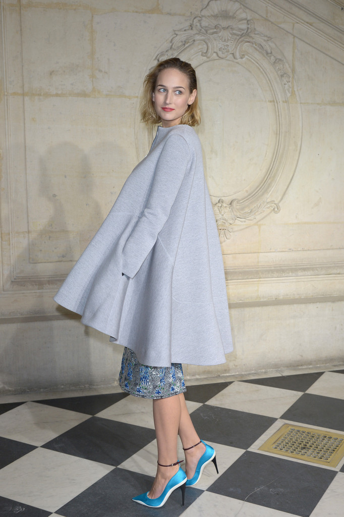 Leelee Sobieski attends the Christian Dior show as part of Paris Fashion Week Haute Couture Spring/Summer 2014 on January 20, 2014 in Paris, France.