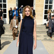 Natalia Vodianova in a Navy Silk Jumpsuit