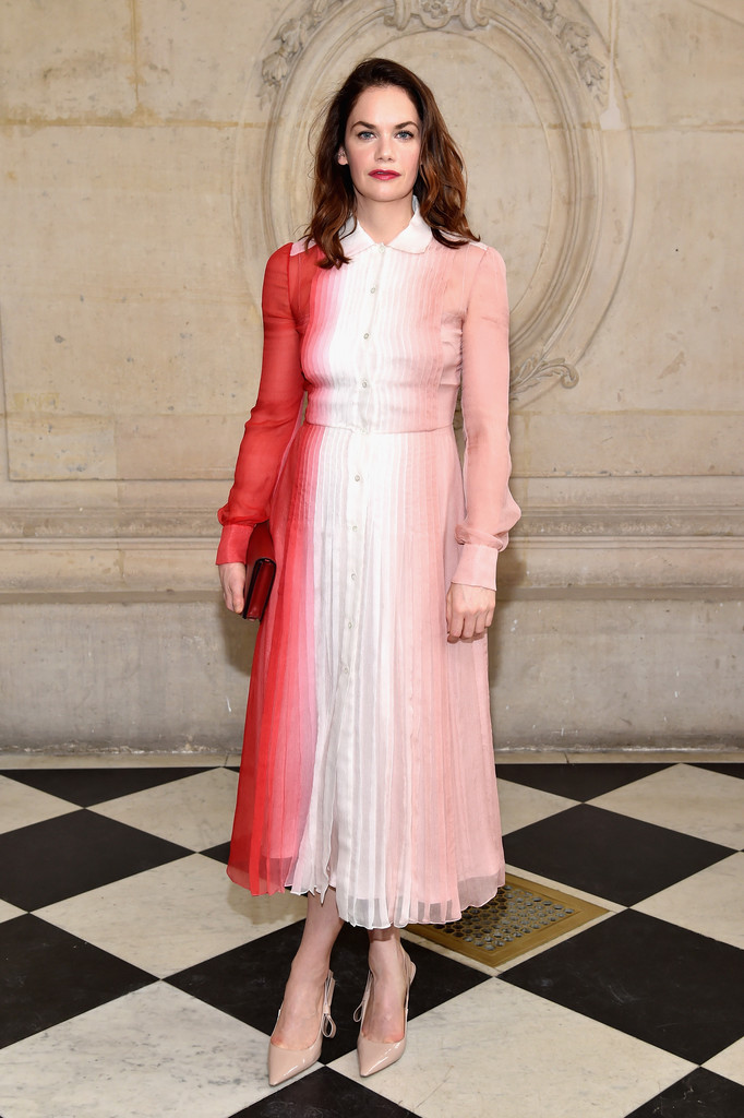 Ruth Wilson At Christian Dior Pfw Fall 2017 The Can 39 T Miss Celeb Looks From The Frow
