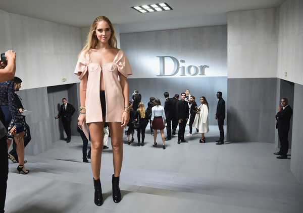 Chiara Ferragni at Christian Dior