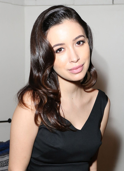 Christian Serratos Retro Hairstyle [hair,face,hairstyle,eyebrow,chin,beauty,long hair,lip,black hair,brown hair,anna kendrick,nylon celebrates,christian serratos,cover,gracias madre,west hollywood,california,nylon]