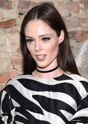 Coco Rocha kept it casual with this straight center-parted 'do at the Christian Siriano fashion show.