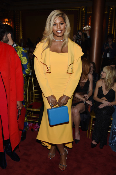 Laverne Cox pulled her look together with a pair of silver ankle-strap sandals.