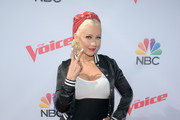 Christina Aguilera Peep Toe Pumps