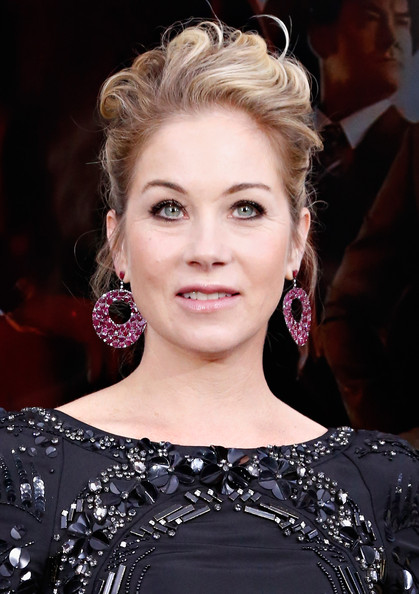 Christina Applegate Pinned Up Ringlets