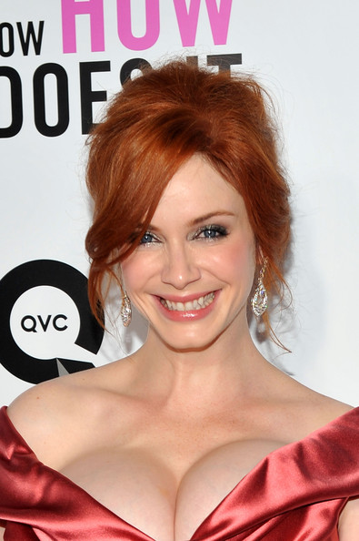 Christina Hendricks Dangling Diamond Earrings