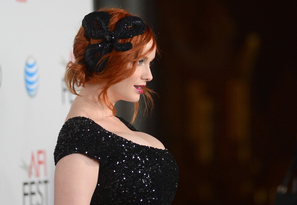 Christina Hendricks Headband [ginger and rosa special screening - arrivals,ginger and rosa,hair,hairstyle,beauty,shoulder,lady,headpiece,hair accessory,fashion,dress,headgear,christina hendricks,chinese theatre,california,hollywood,audi,afi fest,screening,afi fest]