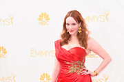 Christina Hendricks One Shoulder Dress