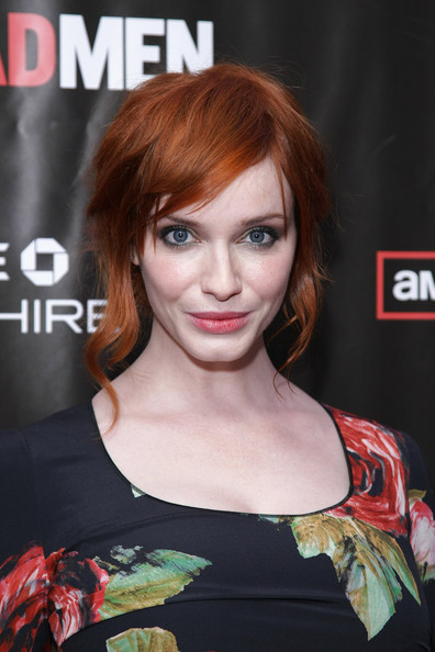 Christina Hendricks Loose Bun