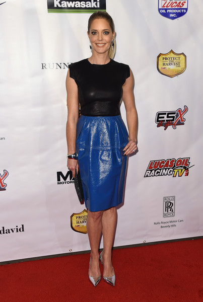 Christina Moore Leather Dress