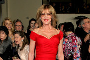 Christine Lahti Off-the-Shoulder Dress