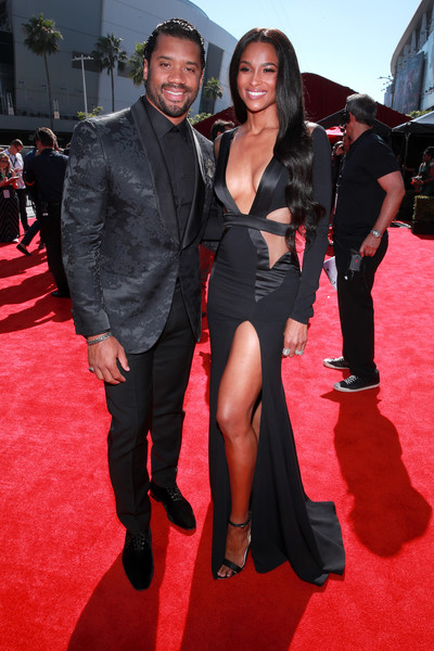 Ciara Strappy Sandals [red carpet,red carpet,carpet,premiere,flooring,event,fashion,dress,suit,little black dress,formal wear,russell wilson,ciara,microsoft theater,los angeles,california,espys]