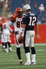 Tom Brady Chad Johnson Cincinnati Bengals v New England Patriots