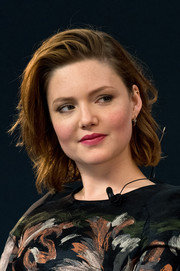 Holliday Grainger wore her hair in a wavy bob at the Meet the Filmmaker event.