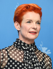 Sandy Powell sported a boy cut at the Berlinale photocall for 'Cinderella.'