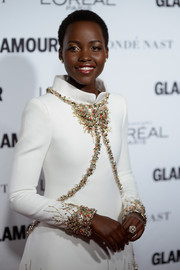 Lupita Nyong'o attended the Glamour Women of the Year Awards wearing a lovely pearl-cluster ring that echoed the elegance of her dress.
