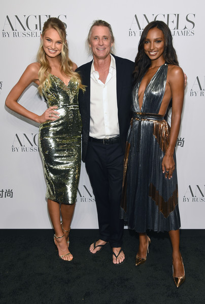 More Pics of Jasmine Tookes Evening Pumps (1 of 9) - Jasmine Tookes Lookbook - StyleBistro [clothing,dress,cocktail dress,fashion,shoulder,event,carpet,joint,fashion design,premiere,arrivals,cindy crawford,candice swanepoel host angels,russell james,jasmine tookes,angels,l-r,romee strijd,russell james book launch and exhibit,book launch]