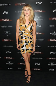 Lucy Punch chose a floral peplum dress for the screening of 'Twelve.'