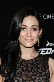 Emmy Rossum wore her hair in a lovely cascade of waves during the 'Need for Speed' screening.