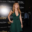 Jennifer Lawrence in Calvin Klein's Green Cocktail Dress