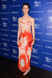 How stunning did Erin look in this orange and white silky gown at the 'Sparkle' screening in NY?