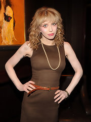 Courtney Love showed off her medium curls while hitting the screening of 'Due Date'.