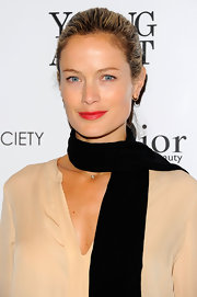 Carolyn Murphy wore a vibrant red lipstick with lots of shine at a screening of 'Young Adult.'