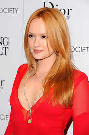 Kaylee Defer wore her warm strawberry tresses with a casual center part at a screening of 'Young Adult.'