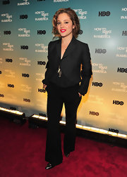 Margarita showed off her cropped jacket while hitting an HBO screening in New York.