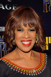 Gayle King opted for a short wavy cut when she attended the screening of 'Black Panther.'