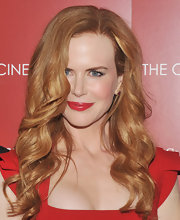 Nicole Kidman finished off her red hot look with a perfect red pout.