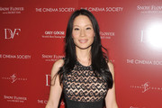 Actress Lucy Liu attends the Cinema Society with Ivanka Trump Jewelry & Diane Von Furstenberg screening of