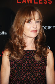 Isabelle Huppert wore her hair in face-framing curls for the screening of 'Lawless.'