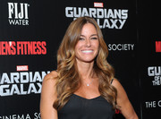 Kelly Bensimon stuck to her signature center-parted wavy style when she attended the 'Guardians of the Galaxy' screening.
