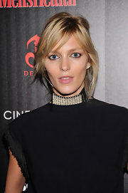 Anja Rubik pulled off this messy updo at the 'Killing Them Softly' screening.