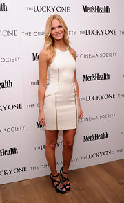 Erin Heatherton rocked a little white dress for the premiere of 'The Lucky One' in NYC.