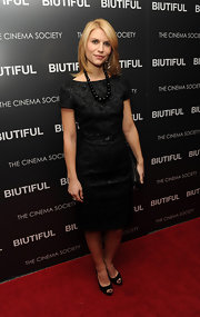Claire Danes looks demure in black peep-toe pumps. The heels perfectly complement a ladylike pencil dress.