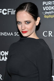 Eva Green slathered her lips in a vivid red hue at the Cinema Society screening of 'Cracks.'