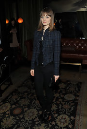 Bella Heathcote rocked a pair of heeled oxfords at the screening of 'Cracks.'