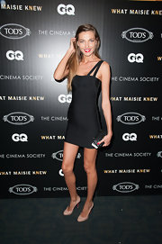 Fashion model Alina Baikova showed off her slender figure in this LBD.