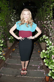 Natalie chose just a classic black pencil skirt to pair with a loose blouse while at the 'What Maisie Knew' after party.