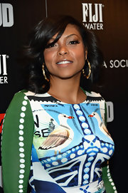Taraji's long lashes added some glamour to her red carpet look at the screening of 'Mud' in NYC.