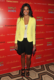 Rachel Roy looked like a ray of sunshine in this yellow blazer at the 'Damsel in Distress' screening.