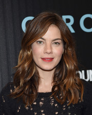 Michelle Monaghan kept her beauty look low-key except for a bright red lip.