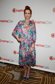 Kristen Wiig's lovely floral frock had a cool retro-feel that we just loved!