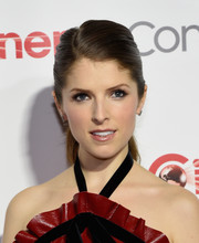 Anna Kendrick opted for a simple ponytail when she attended the CinemaCon Big Screen Achievement Awards.