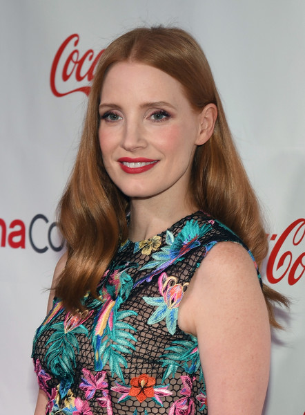 More Pics of Jessica Chastain Embroidered Dress (1 of 35) - Dresses & Skirts Lookbook - StyleBistro