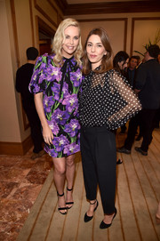 Sofia Coppola was seen at CinemaCon 2017 wearing a classic polka-dot blouse and black slacks.